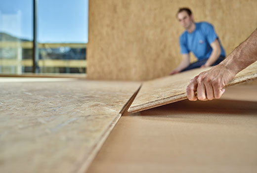 OSB 3 tongue and groove – installed quickly and easily