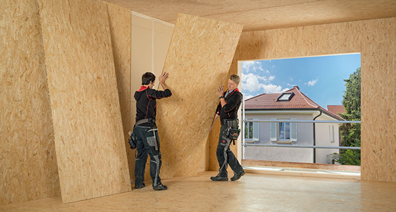 Large format OSB in application