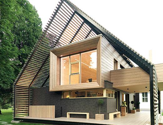 Энергоэффективный дом  за счет использования плит ОСП 4 ТОП и плит ДХФ © Auftragsfoto.at/Stefan Sappert