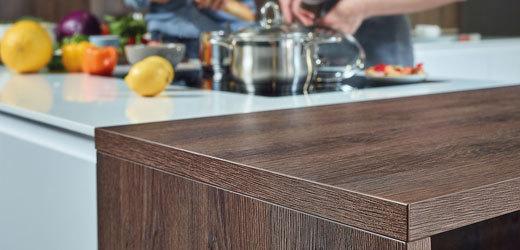 Продукция с антибактериальными свойствами поверхности для оформления интерьера кухни.