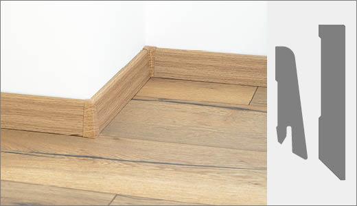 60/80mm Skirting boards decor/white