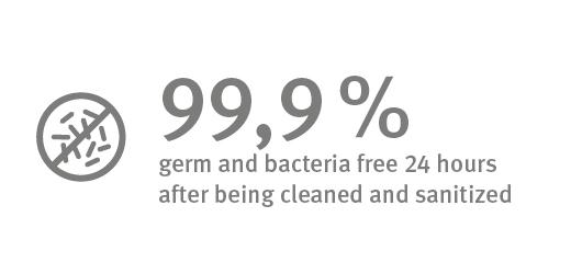 Antibacterial surface property