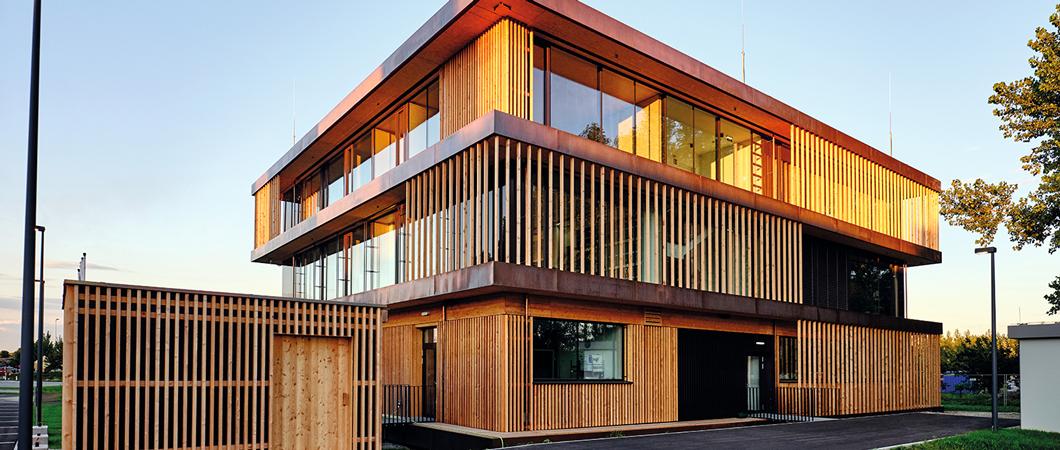 Noua clădire Forum din Unterradlberg este cea de-a cincea din seria de clădiri cu design modular a companiei.