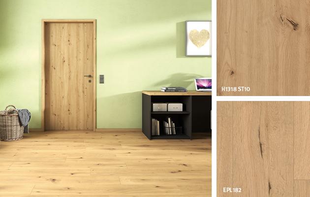 Décors coordonnés de la salle de réunion: Chromix blanc. Porte: Stratifié | Revêtement de sol: Sol Stratifié Aqua+