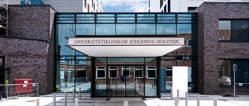 Zona de entrada del Hospital universitario Schleswig-Holstein de Lübeck.  © University Hospital Schleswig-Holstein