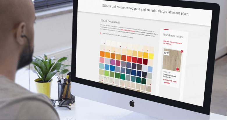 Interactive laminate design wall